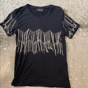 The Kooples chain fringe t shirt
